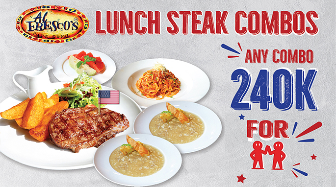 LUNCH STEAK COMBOS