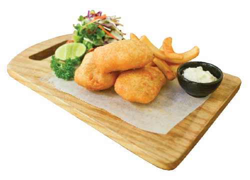 BARAMUNDI FILLET (200g): FISH & CHIPS